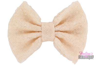 Nude Sequin Bows