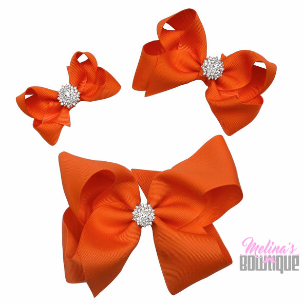Orange Bling Bows