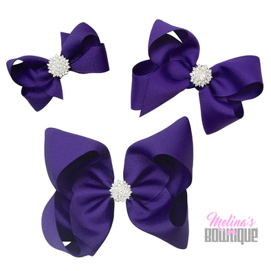 Purple Bling Bows