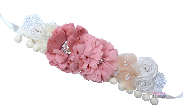 Rayna Pink Floral Couture Headband