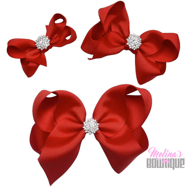 Red Bling Bows