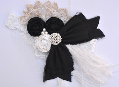 Black  Romance Couture Headband