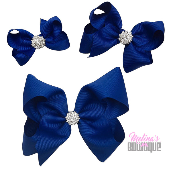 Royal Blue Bling Bows