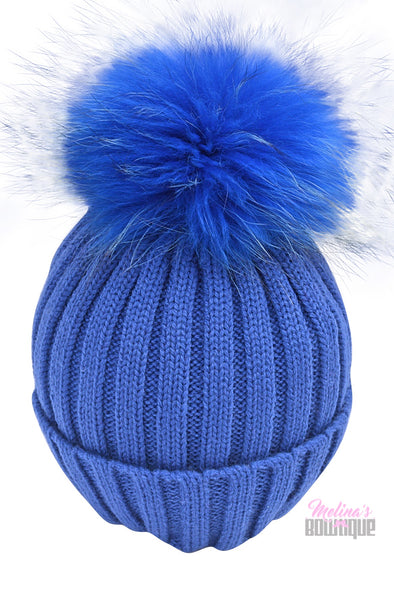 Royal Fur Pom Beanies