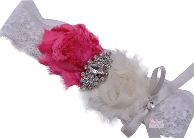 Pink Shab Chic Couture Headband