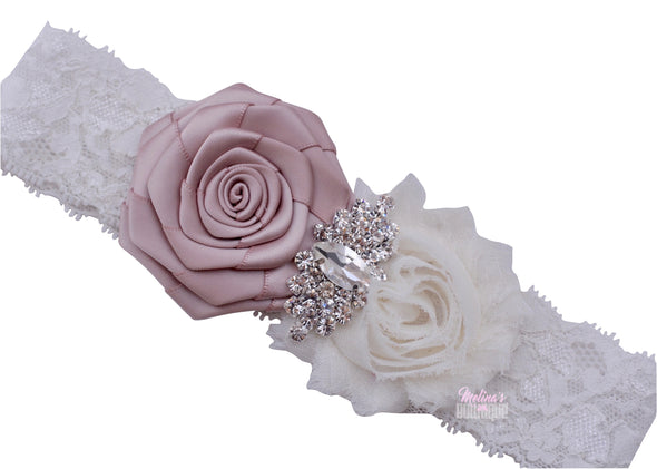 Taupe Shab Chic Couture Headband