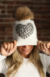 Red Starburst Angora Hat