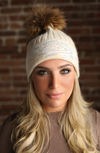 Cream Crystal Cashmere Hat