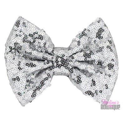 Silver Sequin Bows