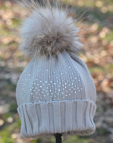 Cappuccino Crystal Beanie