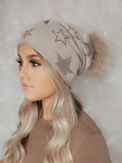 Taupe Star Daze Cashmere Slouch