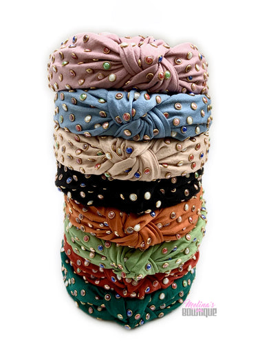 Studded Topknot Headbands