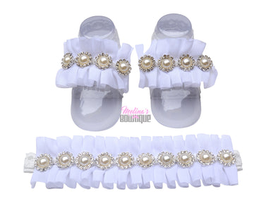 Ivory Crystal Tootsie Sets