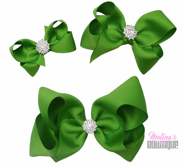 Tropic Green Bling Bows