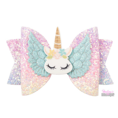 Unicorn Glitter Bows