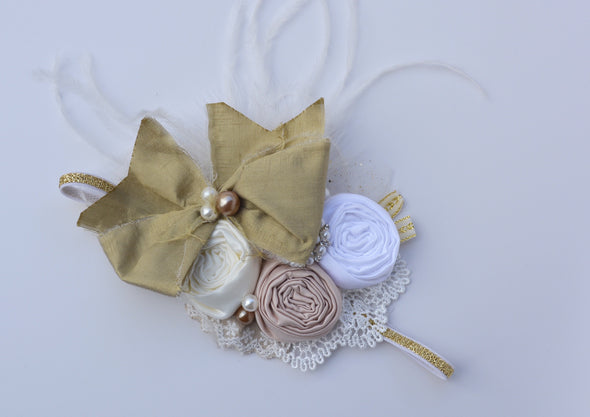 Cream Willow Couture Headband