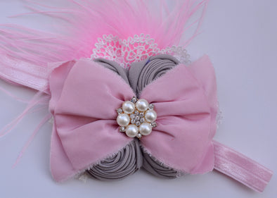 Pink Willow Couture Headband