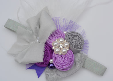 Purple Willow Couture Headband