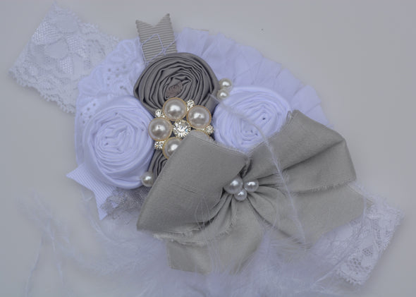 White Willow Couture Headband