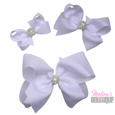 White Bling Bows