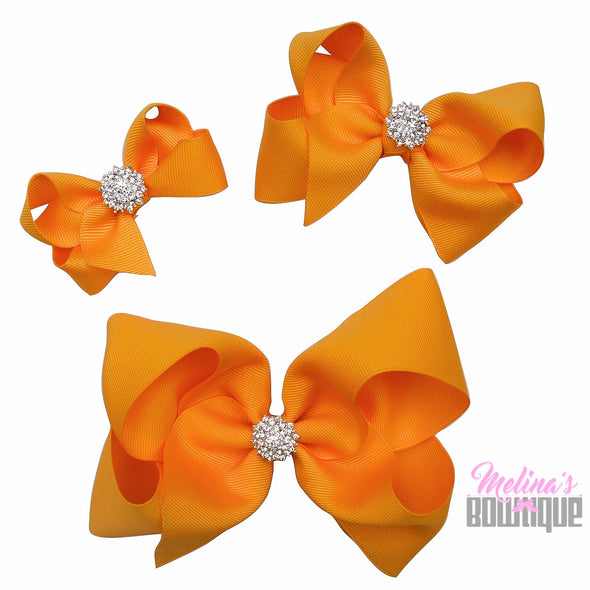 Golden Yellow Bling Bows