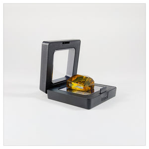 Square - 2 inch - 3D Floating Frame 2-Sided Display Case - Black