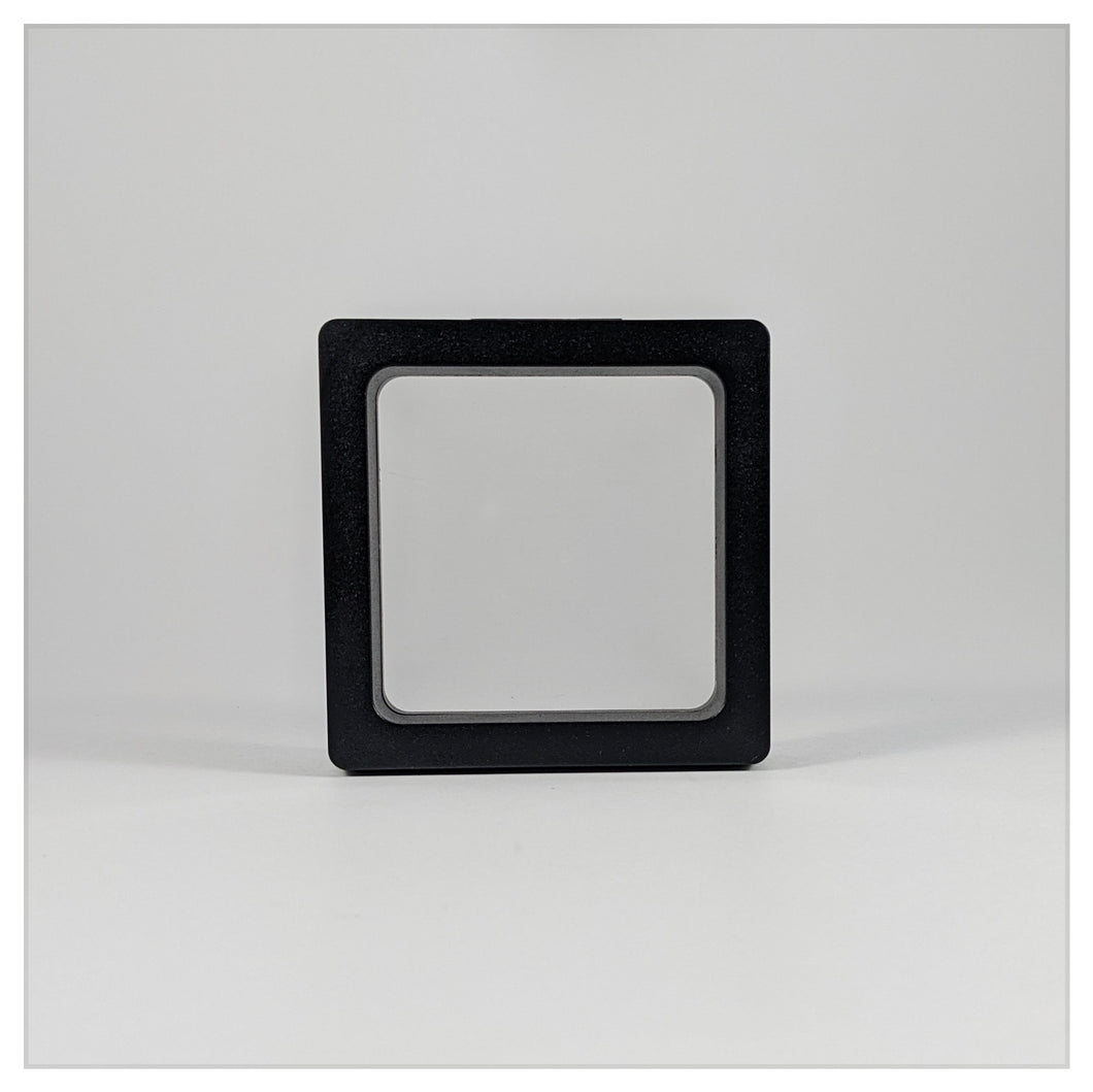 Square - 2.8 inch - 3D Floating Frame 2-Sided Display Case - Black