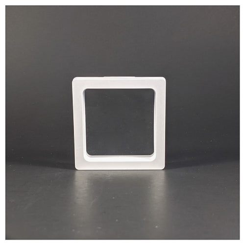 Square - 2.8 inch - 3D Floating Frame 2-Sided Display Case - White