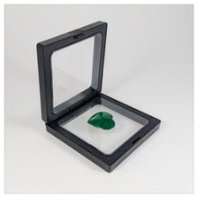 Square - 3.5 inch - 3D Floating Frame 2-Sided Display Case - Black