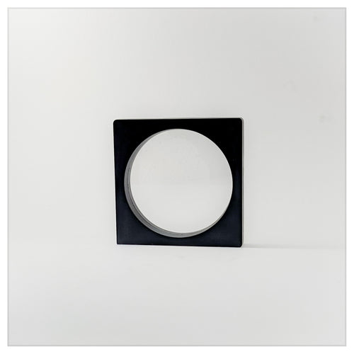 Square/Circle - 3.5 inch - 3D Floating Frame 2-Sided Display Case - Black