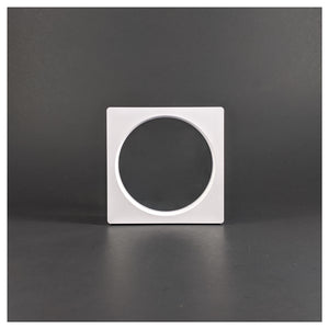 Square/Circle - 3.5 inch - 3D Floating Frame 2-Sided Display Case - White