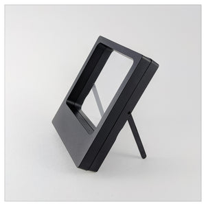 "Legs - 3.5"" x 4.3"" - 3D Floating Frame 2-Sided Display Case - Black"
