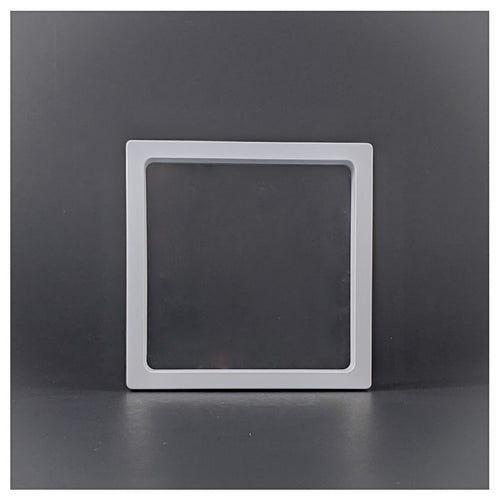 Square - 4.3 inch - 3D Floating Frame 2-Sided Display Case - White