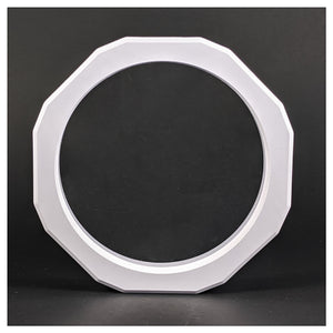Round - 5 inch - 3D Floating Frame 2-Sided Display Case - White