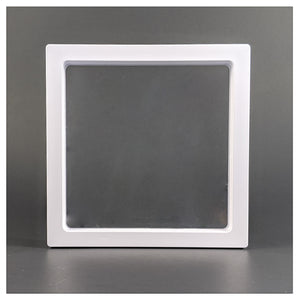 Square - 5.5 inch - 3D Floating Frame 2-Sided Display Case - White