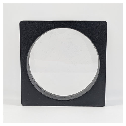 Square/Circle - 6.3 inch - 3D Floating Frame 2-Sided Display Case - Black