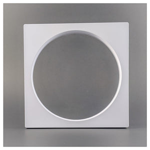 Square/Circle - 6.3 inch - 3D Floating Frame 2-Sided Display Case - White