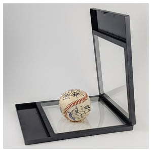 "Label Area - 7.1"" x 9.1"" - 3D Floating Frame 2-Sided Display Case - Black"