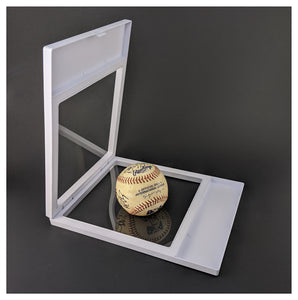"Label Area - 7.1"" x 9.1"" - 3D Floating Frame 2-Sided Display Case - White"