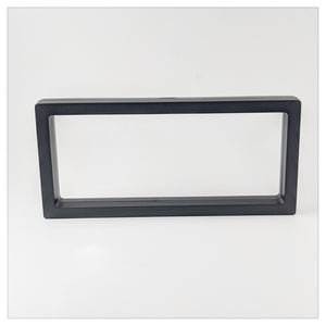 "Rectangle - 4.3"" x 9.1"" - 3D Floating Frame 2-Sided Display Case - Black"