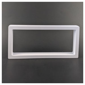 "Rectangle - 4.3"" x 9.1"" - 3D Floating Frame 2-Sided Display Case - White"
