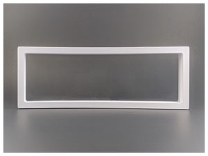 "Rectangle - 4.3"" x 11.8"" - 3D Floating Frame 2-Sided Display Case - White"