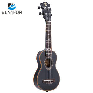 "21""  Ukulele Soprano Ukulele 4 Strings Spruce Ukelele Guitar Ultrathin Special Black Color"