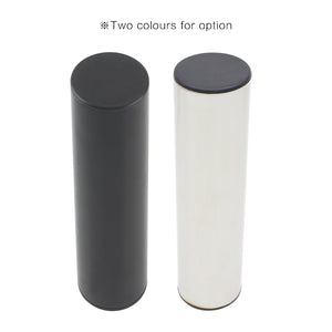 Professional Stainless Steel Cylinder Sand Shaker Rhythm Musical Instruments Metal Hand Percussion Black