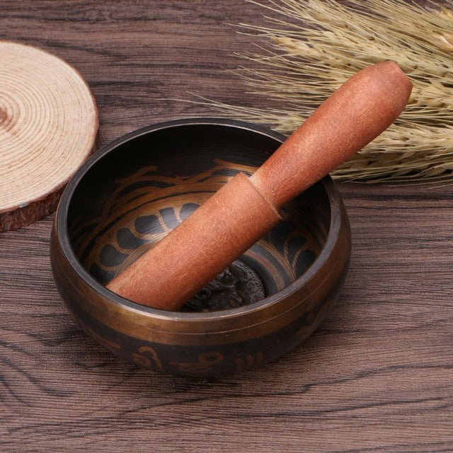 Yoga Tibetan Singing Bowl Himalayan Hand Hammered Chakra Meditation Religion Belief Buddhist supplies Home Decoration Crafts