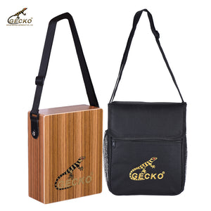 Gecko C-68Z Portable Traveling Cajon Box Drum Hand Drum Percussion Instrument with Strap Carrying Bag