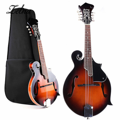 39 GOLDEN SUNSET Guitar F-Model Mandolin 8 Strings 24 Frets Paulownia Concert Ukulele Guitar with Hard Bag Stringed Insturments