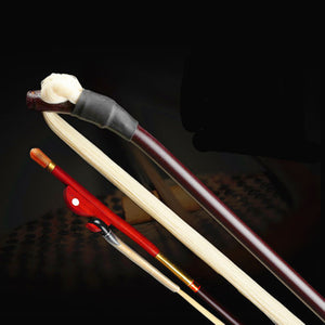 Erhu Bow with White Horse Strings High Grade Erhu Accessories Bow Musical Instrument Erhu Bow with Copper Tube Mao Bamboo