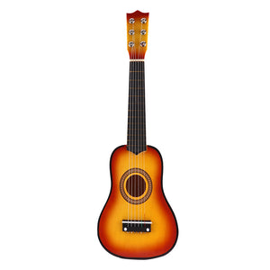 "21"" 6 String Classical Acoustic Guitar Wooden Musical Instrument  Kid Child Toy"