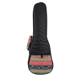Ukulele Bag Folk Style Portable Ukulele Bag Case Cover Backpack Single Shoulder For Ukulele 21''/23''/26'' Small Guitar Gig Bag